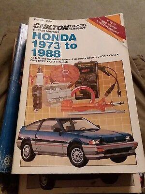 Chilton 6980 Repair Manual Honda Accord Civic CRX Prelude US Canadian 1973 1988