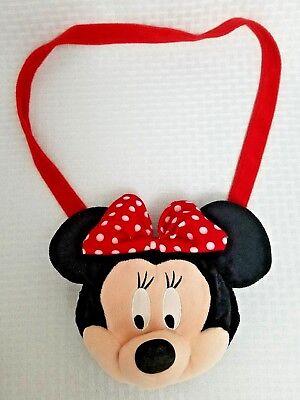 "Disney 100% Cute Minnie Mouse Kids Child Purse 6"" Velvety Plush EUC"