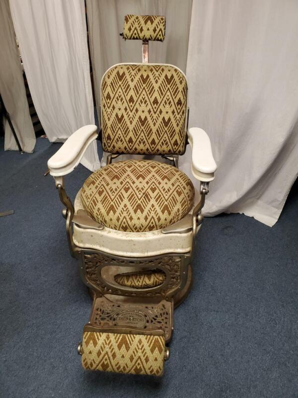 VINTAGE Theo A Kochs 1910 Barber Chair ~ Pickup in NYC Only