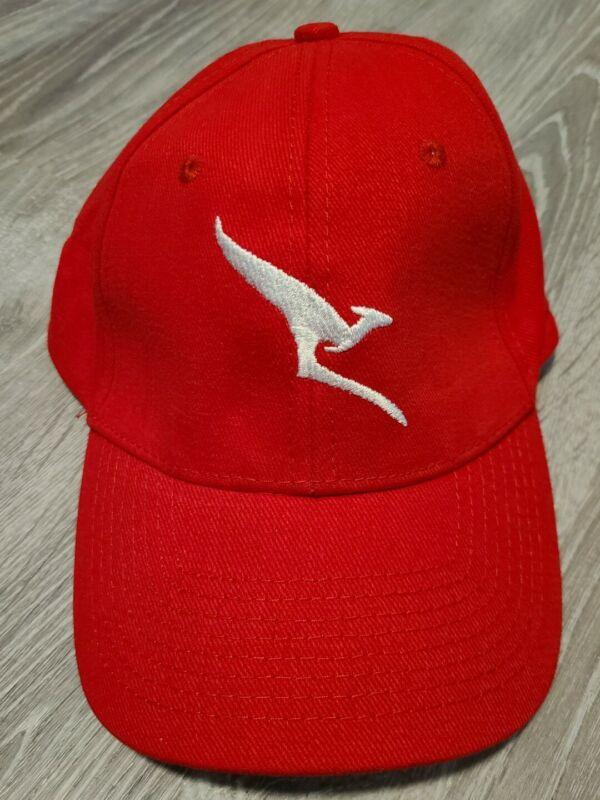 Qantas Airways Airline Logo Hat Cap Promo Red Kangaroo Australia - New!
