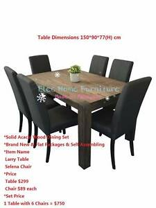 Brand New Solid Dining Table Dining Chair Set Various Model
