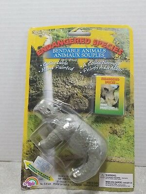 Agglo Endangered Species Rhino Hand Painted 2002 collect  - Rhino Figure - NIB