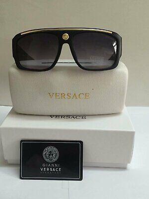 Versace Sunglasses VE9113 Gray-Less golden/Black Men Sunglasses 62mm