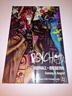 Rare vintage original 1991 DC Comics 22x14 The Psycho Promo Advertising Poster