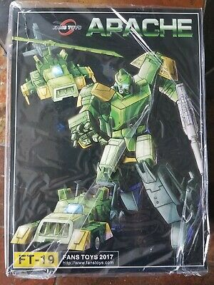 Fans Toys FT-19 Apache Transformers 3rd Party Springer MISB Fanstoys New