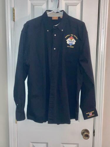 NATIONAL FIRE ACADEMY ALS-HAZ MAT TRAINING CLASS DRESS SHIRT - SIZE XL