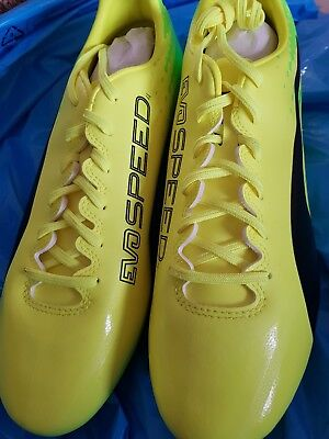 PUMA evoSPEED 17.4FG-FOOTBALL BOOTS-MENS SIZE 11-YELLOW/BLACK/GREEN NEW & BOXED