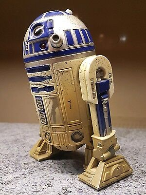 1998 Star Wars 6 inch R2D2 1/6 scale  12 inch figure Dagobah ELECTRONIC works
