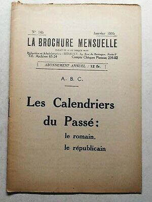 #58 Anarquía la Folleto Mensual N145 Janvier 1935 las Calendario de la...