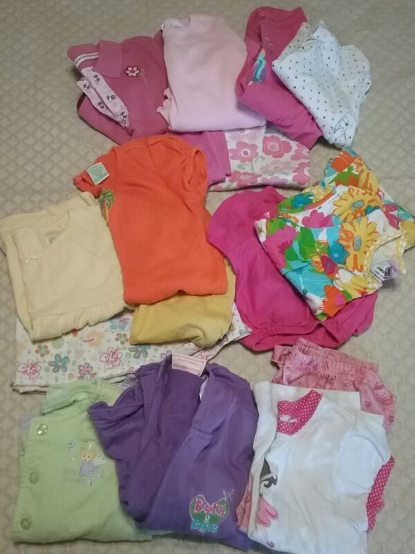 Lot Of 18 Kids Girl Toddler Everyday Clothing Summer Size 24 Months R4
