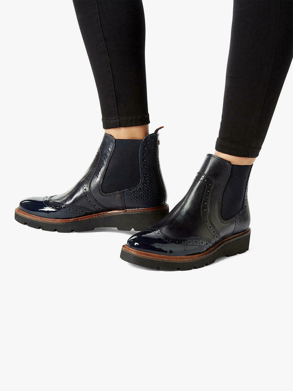 Rare Dune London PALOMO Woman Chelsea Boots, Ankle Boots US5/36/UK3 - NAVY - NIB