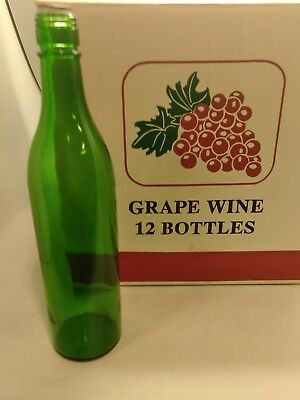 2 boxes Green Wine Bottles, 750 ml (Pack of 24) new old stock heavy bottles