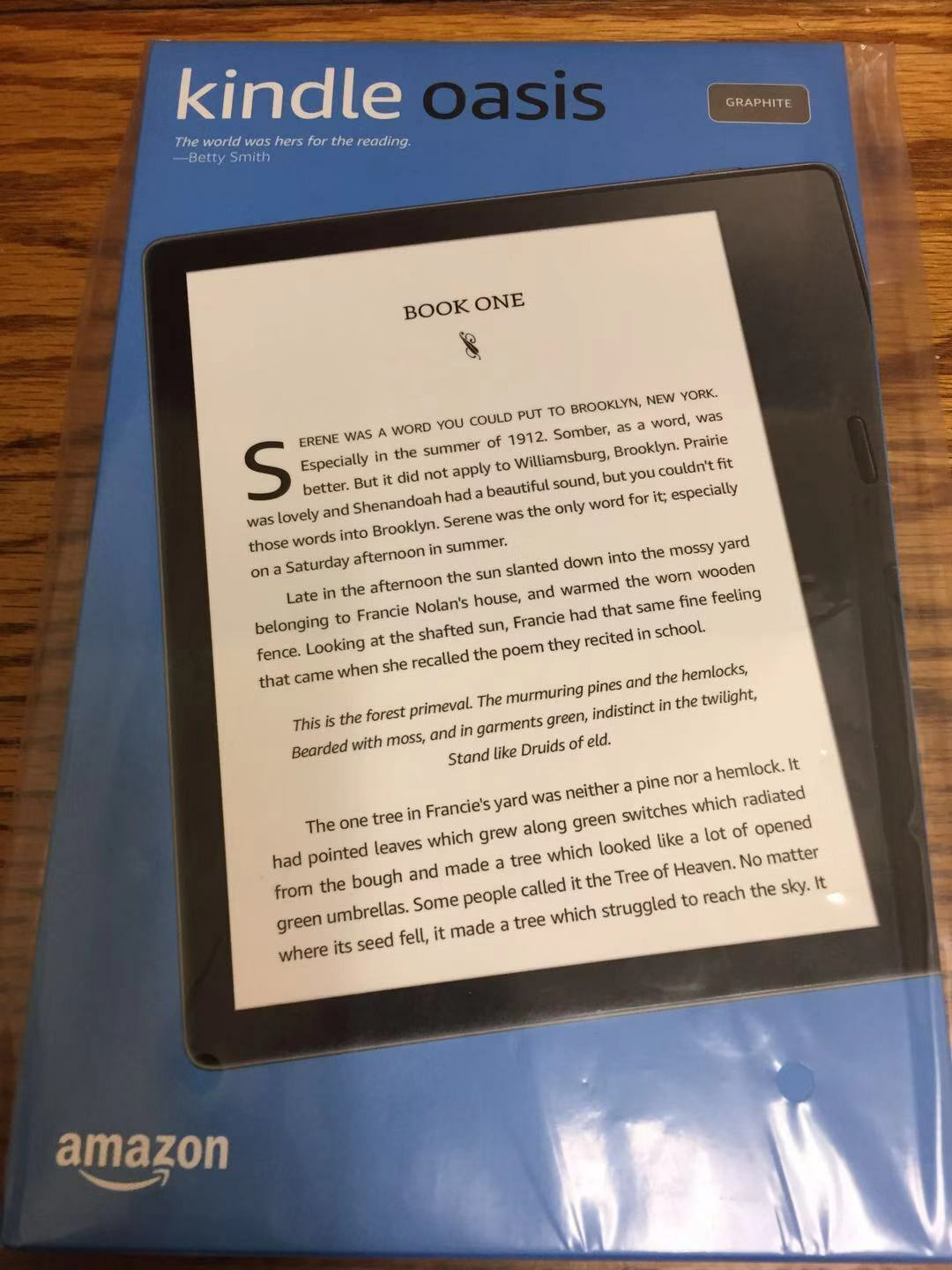 New Amazon Kindle Oasis  8GB, Wi-Fi, 7 Inch, eReader Gray wi