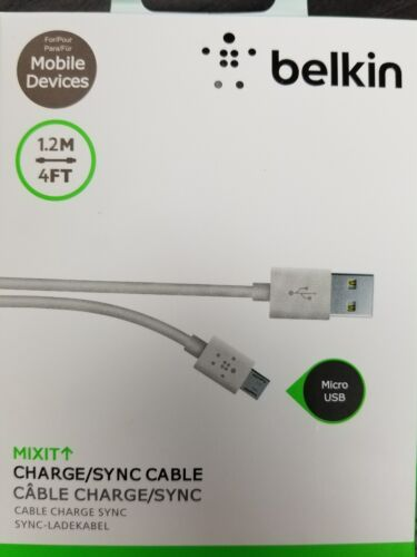 OEM Belkin 4 ft MIXIT Micro USB charging Cable for Android F