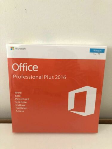 Microsoft Office Professional Plus 2016 - 32/64 Bit - Brand New & Sealed - DVD