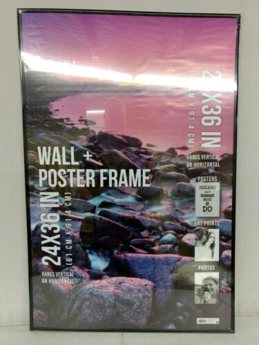 NEW 24 x 36 Poster Picture Frame Black With Clear Front and