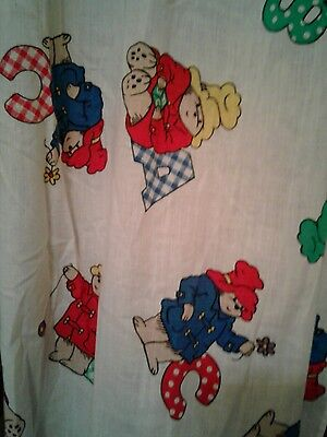 Childs Room Curtains Paddington Bear Cuddle Me 2 Ruffled Tie Backs 40x60