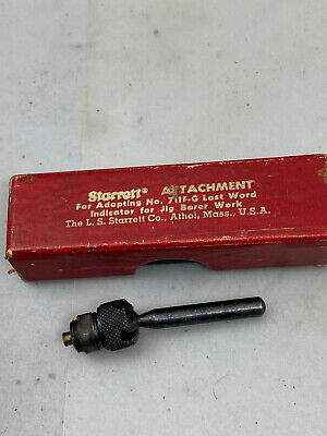 Vintage Attachment Ls Starrett Dial Test Indicator 711ea For Last Word Indicator