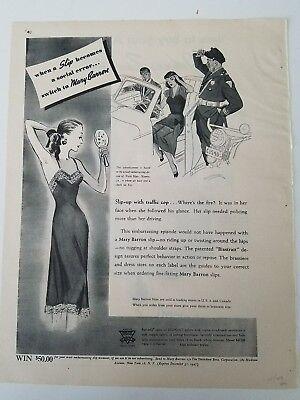 1947 Mary Barron Bur-Mil Satin Damen Einschub Become Sozial Fehler Anzeige online kaufen