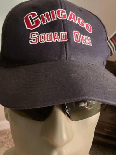VINTAGE CHICAGO FIRE DEPT SQUAD ONE BALL CAP (CIRCA 1980