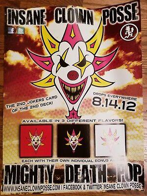 Insane Clown Posse - The Mighty Death Pop Poster twiztid psychopathic (Insane Clown Posse The Mighty Death Pop)