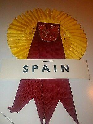 SPAIN FOOTBALL  ROSETTE V ENGLAND 3/4/1968