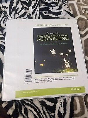 Horngrens Fincial and Managerial Accounting 5th Edition ISBN 9780133851267