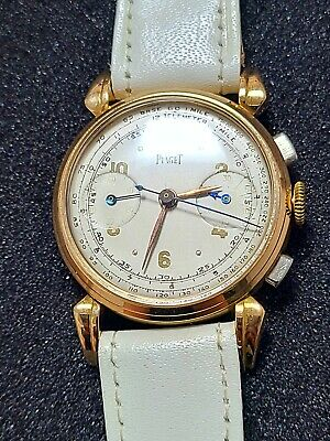 Piaget 18K solid gold chronograph vintage watch