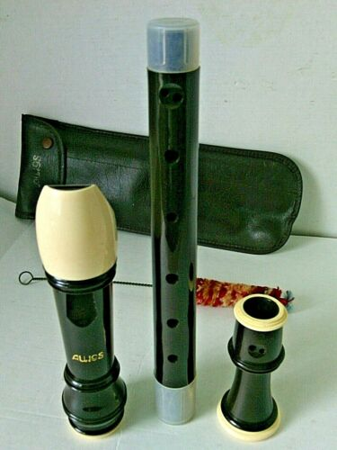Recorder Treble Alto Aulos 3 Piece Beginners Youth Soft Case Woodwind Japan Kids