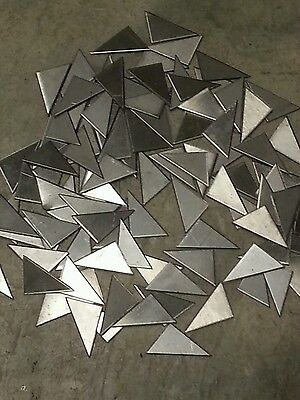 Weld Gusset Stainless Steel 100 Pieces 34 X 1- 18 Gage Plate Metal Sheet