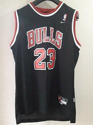 Nike Chicago Bulls NBA Basketball Black Sewn Vest XXL #23 Jordan Length +2 Top
