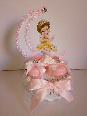 Baby Belle Unique Baby Shower Cake Topper, Centerpiece keepsake Favor, Decor](Unique Baby Shower Decorations)