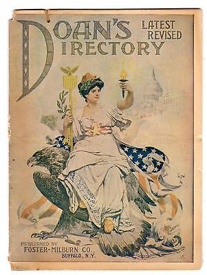 1906 DOAN'S DIRECTORY*PATRIOTIC COVER*KIDNEY PILLS*DR THOMAS ECLECTRIC OIL++++++