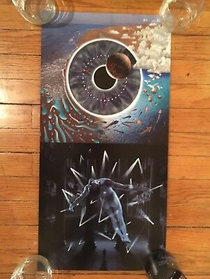 Pink Floyd Double Sided Poster 2 N 1 Perforated Pulse Poster 24 X12