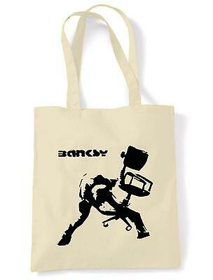 banksy office chair shoulder bag the clash