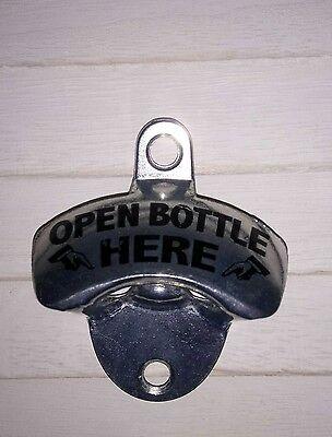 Cerveza Abridor de Pared Pared Destapador Abrebotellas Botella Abierta Aquí