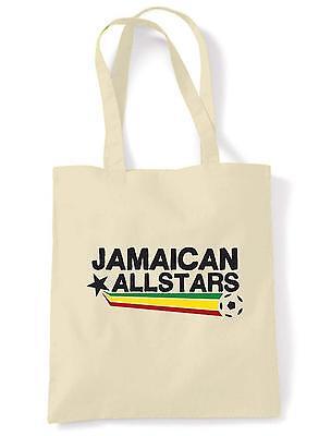 JAMAICAN ALL STARS TOTE BAG Reggae Rastafarian Bob Marley Rasta Football Jamaica