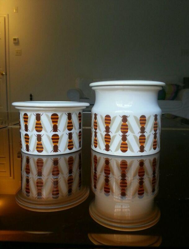 Arabia Finland pomona honey jars 1960