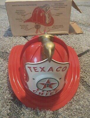 VINTAGE 1960'S TEXACO FIRE CHIEF HAT - FIREMAN HELMET w/ Microphone & Speaker
