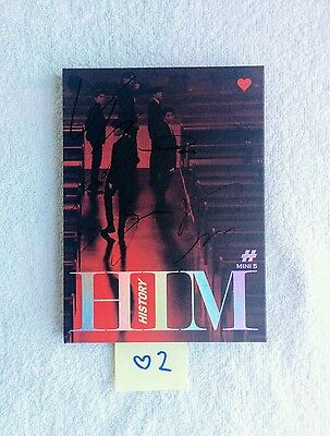 "HISTORY AUTOGRAPHED ""HIM"" Heart Ver. Album CD signed KPOP (No Photocard)"