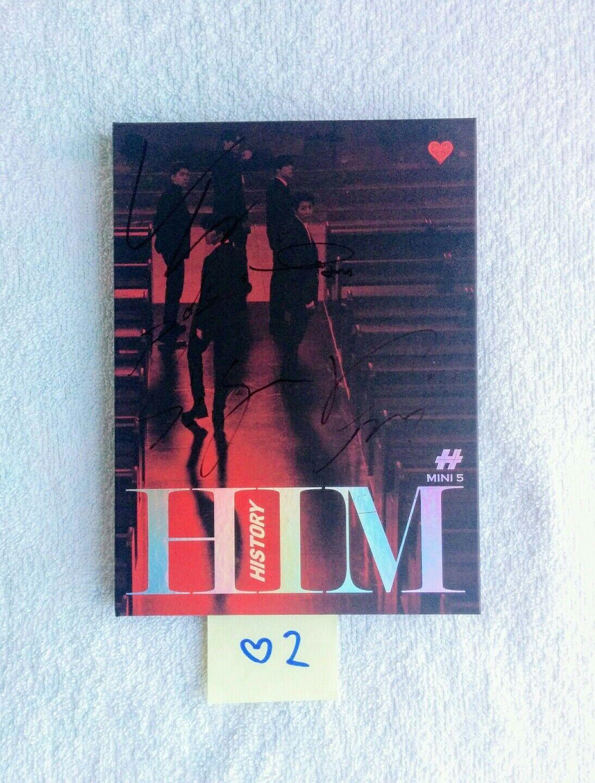 "HISTORY AUTOGRAPHED ""HIM"" Heart Ver. Album CD signed KPOP (No Photocard)"