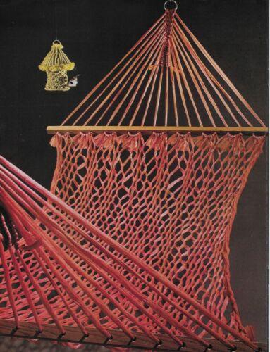Macrame Emporium Vintage Pattern Book Hammock
