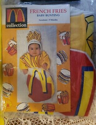 McDonald's French Fry Fries Baby Bunting Halloween Costume (Newborn-9 mos) - NEW