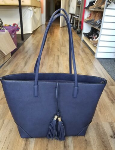 A+ Women's Faux Leather Tote Handbag With Tassel And Zip Clo