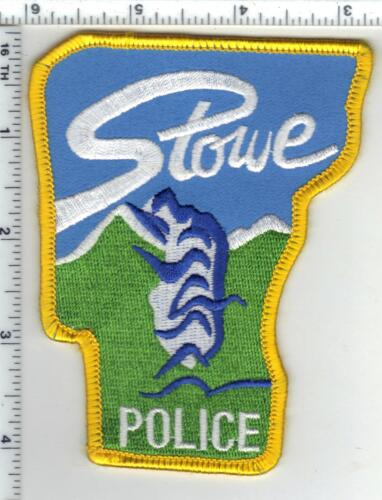 Stowe Police (Vermont) Shoulder Patch - new from the 1980