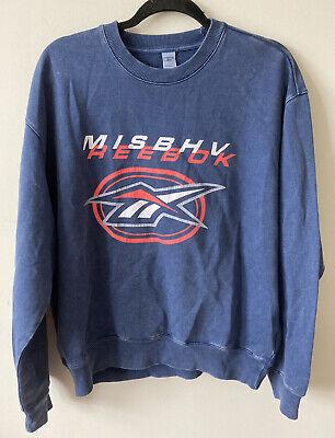 Reebok x Misbhv Blue Crewneck Sweatshirt Medium 80s EUC Sold Out