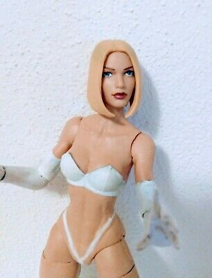 MARVEL LEGENDS EMMA FROST WHITE QUEEN CUSTOM ACTION FIGURE 6 INCHES