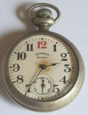 Vintage Ingersoll Midget Pocket Watch For Repairs