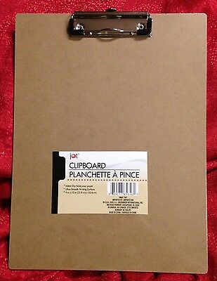 Wood Clipboard 9x12 Low Profile Metal Clip Rubber Corners Smooth Wooden Surface