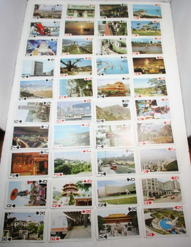 Vintage (40) Views of Hong Kong on 40 Souvenir Playing Cards